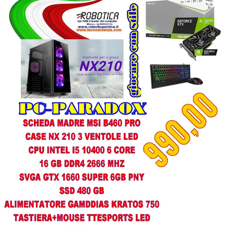 Computer Paradox I5 10400 - 16gb DDR4 - SSD480
